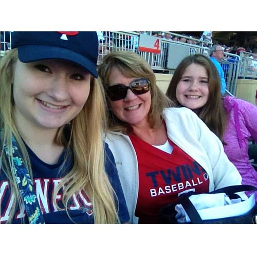 At the Twins game